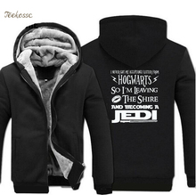 I Never Got My Acceptance Letter From Hogwarts-So Become A Jedi Funny Creative Hoodie 2018 Winter Casual Sweatshirt Men Coat