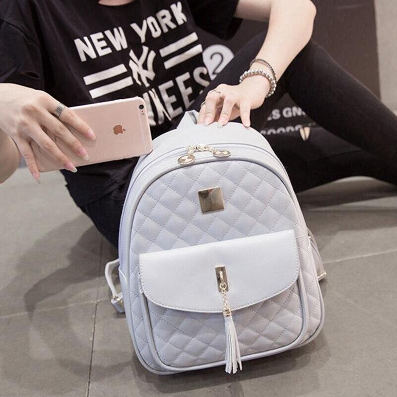 Fashion Casual Travel Backpack for Teenage Girls PU Leather SchoolBag Backpack Mochila feminina Backpacks Shoulder Bags DJZ282