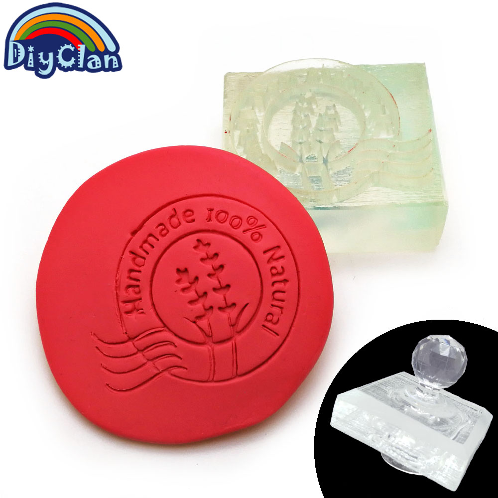 Acrylic crystal Transparent natural handmade acrylic soap seal stamp mold chapter mini diy natural patterns organic glass Z0089H japanese korea stationery portable mini roller secrecy stamp garbled seal graffiti seal teacher secrecy stamp