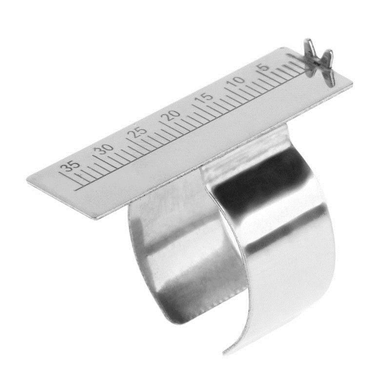 Stainless Steel Dental Finger Ruler Equipment Dentist Endodontic Span Measurement Scale Gauge Instrument Tool Teeth Whitening
