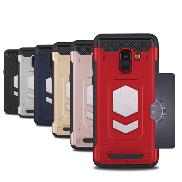 on sale d3d72 c783d Aliexpress.com : Buy For Samsung Galaxy A8(2018) Anti Shock With Card  Pocket Car Magnetic Protection Phone Cover For Samsung A8+Plus SM A730 SM  A530F ...