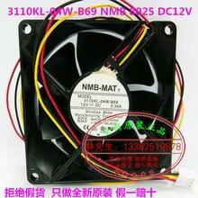 Новые Оригинальные NMB 3110KL-04W-B69 DC12V 0.34A 80*80*25 ММ 8 СМ вентилятор охлаждения