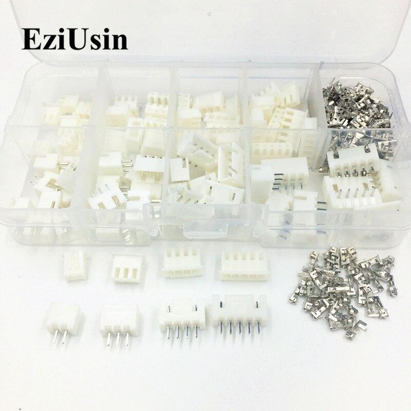 XH2.54 Jst Terminal Kit Wire Connector Adaptor 2p 3p 4p 5p 2.54mm 2.5mm Pin Header Housing Xh TJC3 230pcs/Set