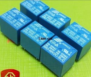 Image 1 - Relé de SRD 05VDC SL C SRD 09VDC SL C, 5V, 9V, 12V, 24V, 10A, 250VAC, 5 pines, T73, 50 unids/lote, Envío Gratis