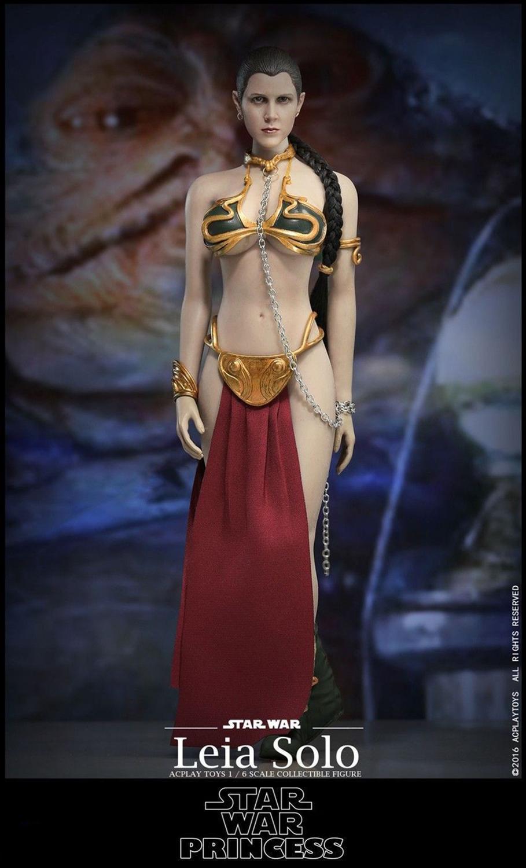 "1//6 Star Wars Princess Leia Organa Slave Head Sculpt For 12/"" Hot Toys PHICEN USA"