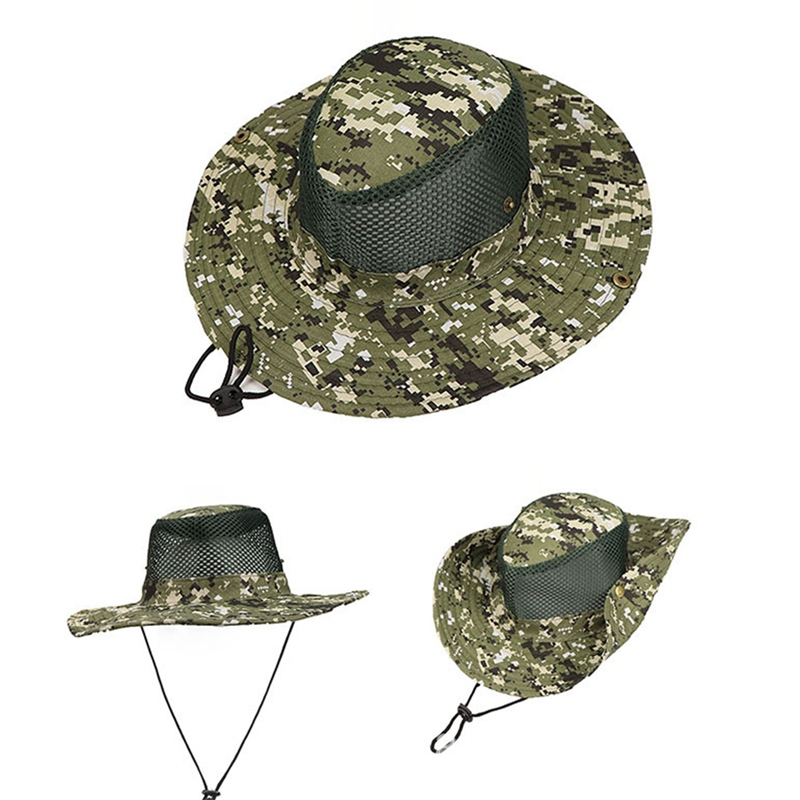 Outdoor Fishing Pesca Sunshade Fishing Cap Polyester Camouflage Changable Breathable Mesh(China)