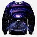 Estilo de la manera de los hombres 3d sudaderas impresión músicos directa sinfonía espacio torbellino nebula galaxy hoodies pullover