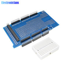 170 kravat noktaları Proto prototip kalkanı V3.0 V3 3.0 genişleme geliştirme kartı + Mini PCB Breadboard Arduino için MEGA 2560 r3 DIY