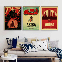 Vintage Akira Japanese Anime  retro poster kraft paper classic wallpaper home decor bar Wall Decor wall sticker