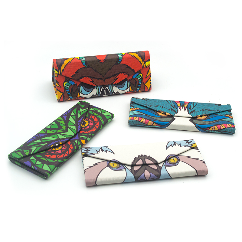 Mode Handgemaakte zonnebril Case Box Oogaccessoires Spektakel-Case Merkontwerp Animal Folding Eyeglass Case