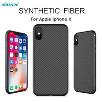 NILLKIN Synthetic Fiber Phone Cases For Iphone X Luxury Slim Soft Silicone Case For IPhone X