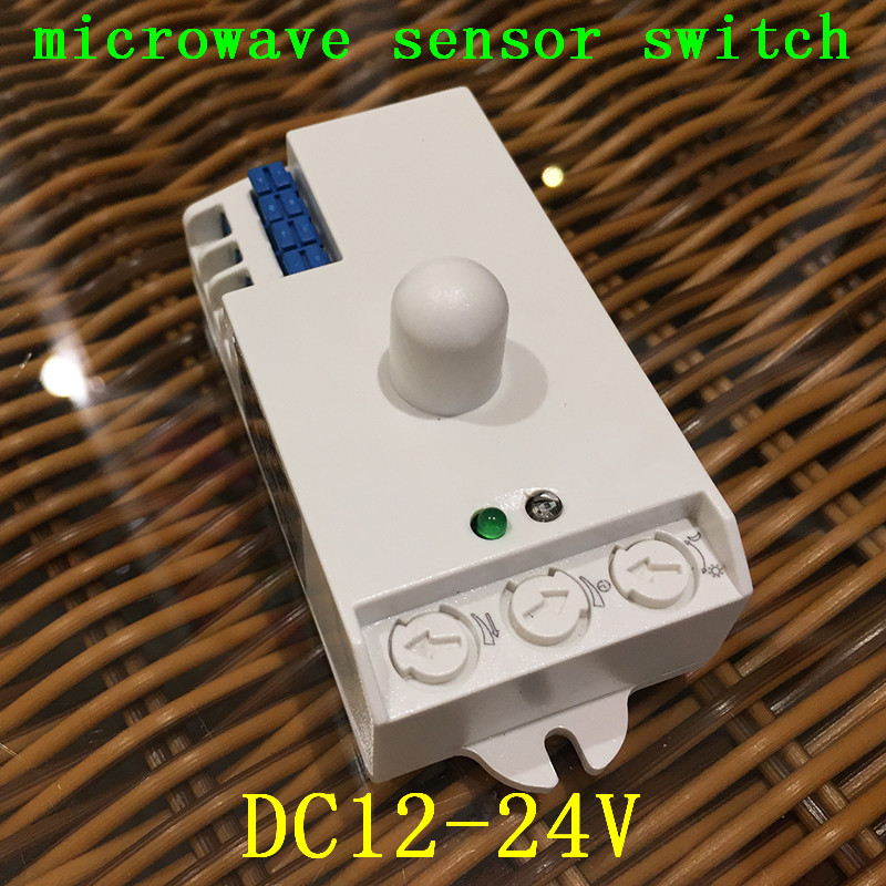 Led Microwave Radar Sensor Switch DC12V-24V 7A light control Hunman Body Motion HF Detector Lights Switch for led lamp CM123