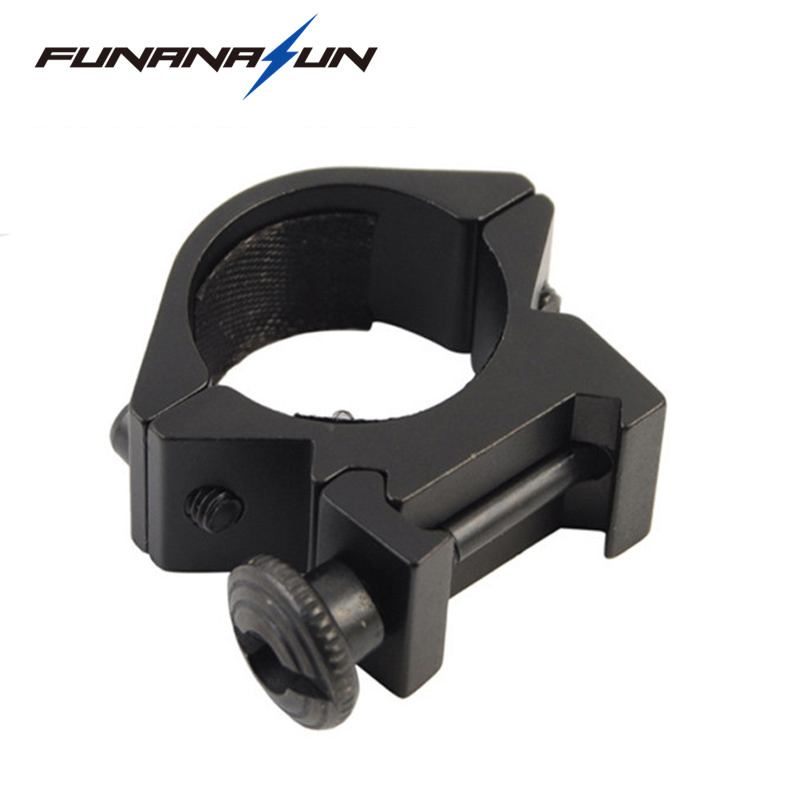 Hunting Rifle 25.4mm/1 Scope Ring Flashlight Torch Mount 20mm Picatinny Weaver Rail Adapter Tactical Converter Laser Sight Base