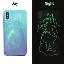 FQYANG Starry Sky Luminous Case for Iphone X XS Max 8 Plus 7 Carcasa 6 6S Hard Full Fitted Fundas