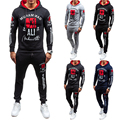 hot sale 2016 brand tracksuit set for men 4 colors long sleeve mens hoodies and sweatshirt us size 2xl hoodies sets