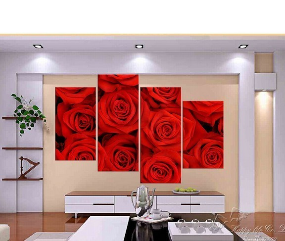 Free Shipping 100 Hand Painted Oil Painting Panel 4 Modern Art Deco Paint Pictures