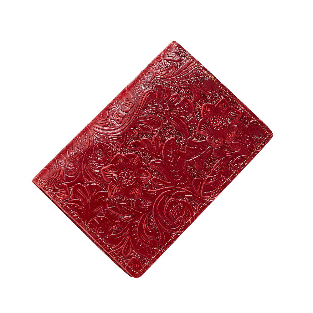 K018-Women Passport Cover Purse-Red-04(6)
