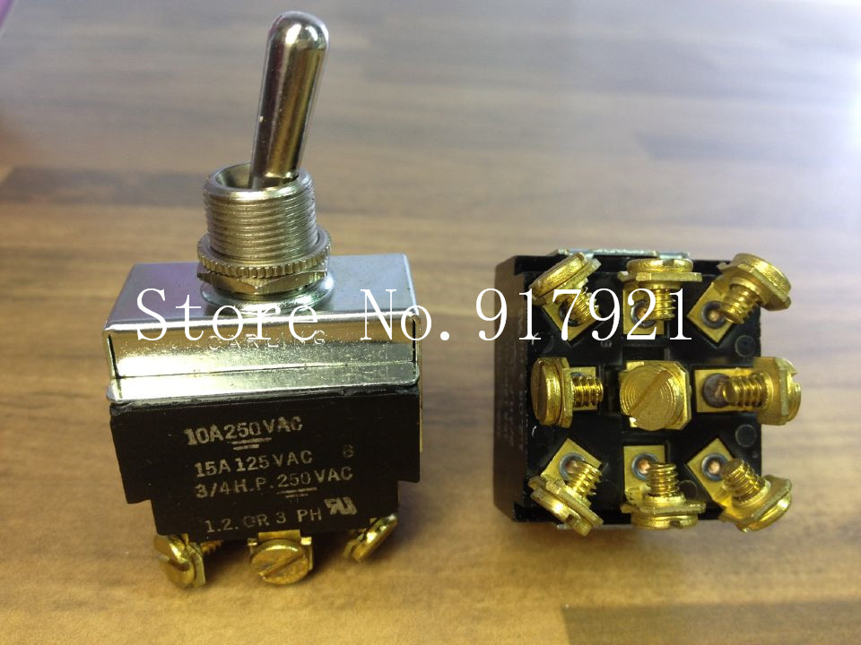 [ZOB] The original American CARLING Ka Ling 3/4H P 9 foot 10A250A 1.2.OR 3PH imported toggle switch  --5pcs/lot morais r the hundred foot journey