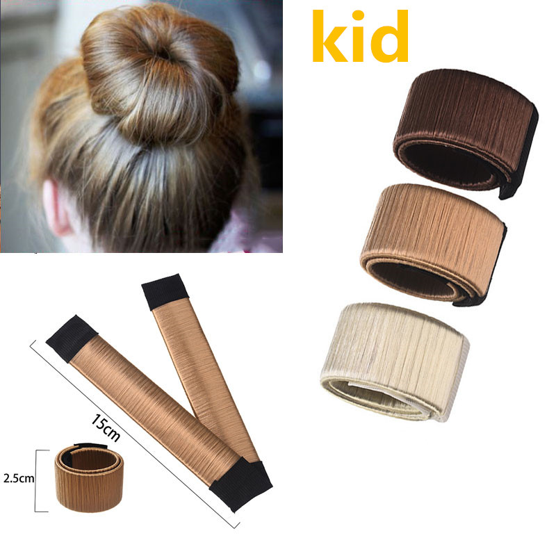 M MISM 15cm/5.9inch Wig Ball Bend Magic Bun Flexible French Hair Bands Chignon Hair Accessories Hair Making Tool Kids Girls купить