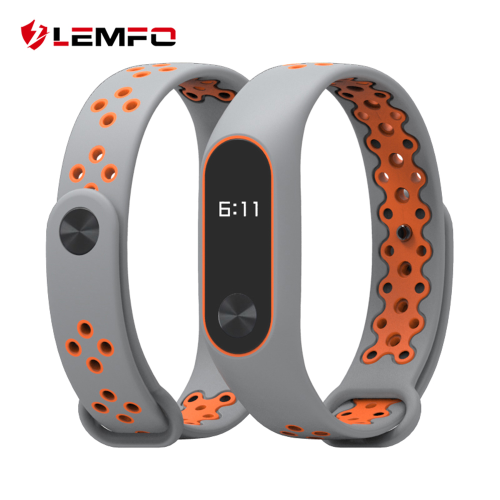 LEMFO Smart Accessories For Xiaomi Mi Band 2 Miband 2 Strap Replacement Wrist Band Double Color Silicone Bracelet For Men Women lemfo smart accessories for xiaomi mi band 3 charger usb charging cable replacement miband 3 smart bracelet mini portable