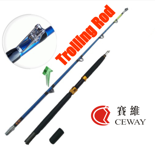 Koolstofvezel Hengels Ultra Super Hard Trolling Staaf Spig Power Jigging Polen Trol Boot Pole Vis levert 2 sectie 1.8 m