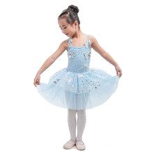 New High Quality Pale blue Children Ballet Tutu Stage Wear Girl Ballerina  Performance Dance Costume Kid Sequin Tutu Dress 00bec46778a7