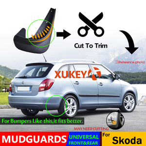 Image 4 - Set Universal Mudflaps Mud Flaps Splash Guards Mudguards For Skoda Citigo Fabia Octavia Rapid Roomster Yeti 6Y 5J NJ 1U 1Z 5E