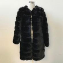 Lanshifei X-Long Thick Fur Coat Women's Fur Jacket Winter Overcoat Faux Fur Outerwear New 2016 Fashion Style