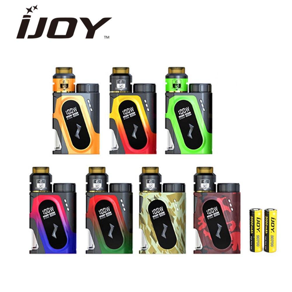Kit Squonker Original 100 W IJOY CAPO SRDA 3000 mAh avec CAPO Squonker MOD & 20700 batterie & COMBO SRDA réservoir Cigarette électronique