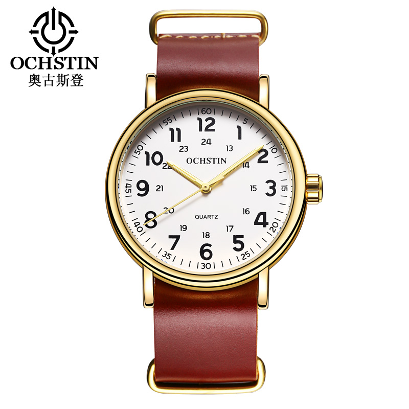 Hot OCHSTIN Mens Watches Top Brand Luxury Quartz Watch Men Waterproof Sport Military Watches Men Leather relogio masculino 2017 умные часы apple watch sport 38mm with white sport band mj2t2ru a