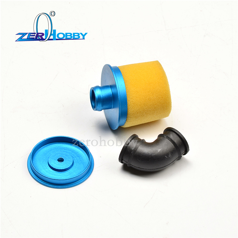 Upgrade 04104 RC Air Filter Cover Aluminum Alloy for HSP RC 1:10 Vehicle Yellow