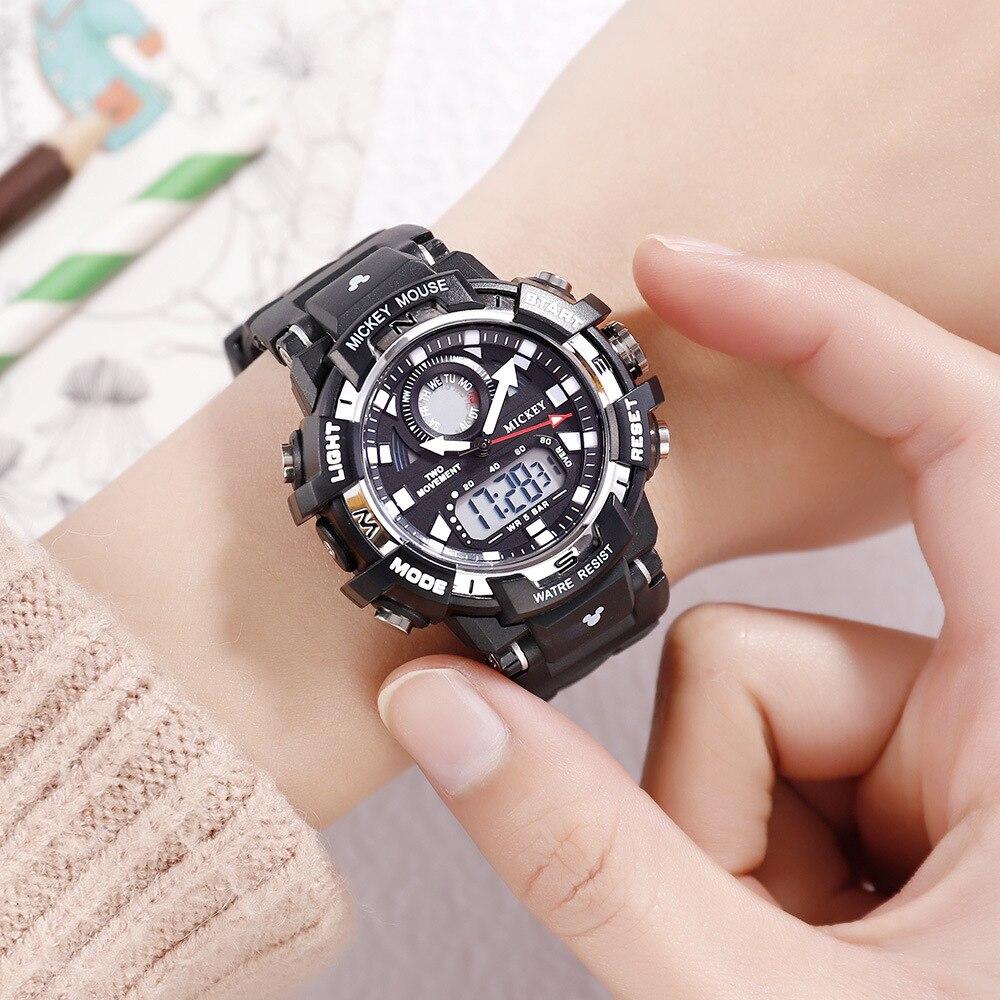 Disney Watch-Bracelet Quartz-Wristwatches Digital Water-Resistant Sports Mickey Bangle