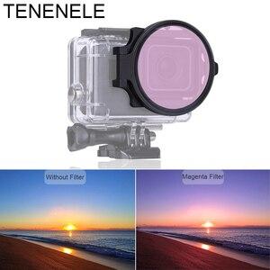 Image 3 - Спортивная камера фильтр 58 мм красный/желтый/пурпурный фильтр Макро Объектив Набор для GoPro Hero 6/5 черный подводный дайвинг Фильтры Аксессуары