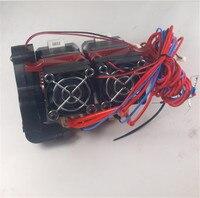 Blurolls RepRap Replicator 3D Printer dual extruder assembly kit/set1.75 mm 0.4mm NEMA17 stepper motor