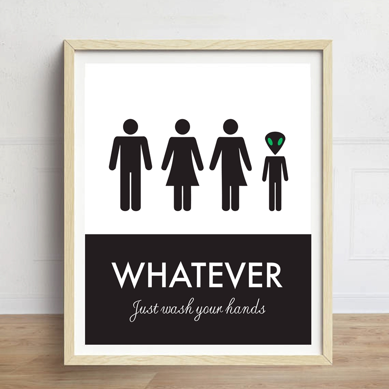 Aliexpress.com : Buy Funny Unisex Toilet Sign Print Wall