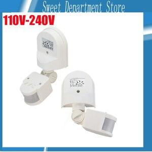 High Sensitive 160degree Motion Sensor 110 -240V/AC Infrared Motion Sensor Switch PIR Detector Wall Mount Outdoor Light Lamp