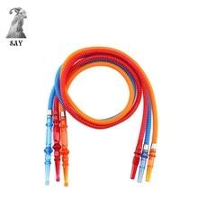 SY 1set 185cm Hookah Hose nargile Tube Acrylic Handle Shisha Pipe Tubes Tools Chicha Narguile Accessories