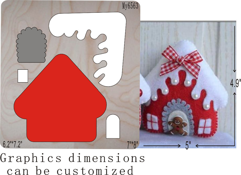 Christmas House die cutting  & Wooden dies fit /// Scrabooking    Christmas House die cutting  & Wooden dies fit /// Scrabooking