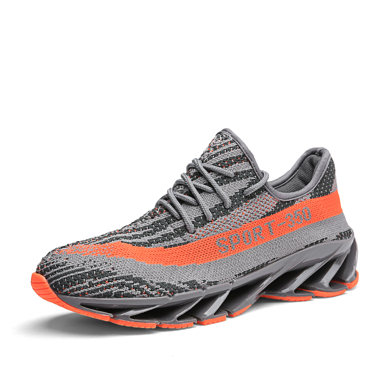 Joomra 2018 Fly Weave Breathable Running Shoes Men Cushion Shock Absorption Jogging Sneakers Outdoor Trainers Walking Unisex