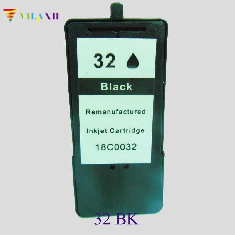 1Pk Cartucho negro de inyección de tinta para Lexmark 32 para Lexmark X5450 Z818 X7350 X5210 X5417 X7170 Z810 Z812 Z815 Z816 P915