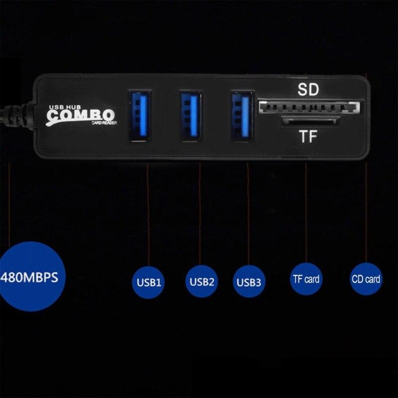 USB-2-0-Card-Reader-2-In-1-High-Speed-3-Port-USB-2-0-Hub