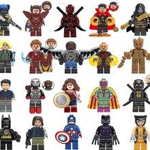 Новые Супергерои lEGOED Marvel Мстители Бесконечность война Железный человек танос Тор Черная пантера Сокол гагора Халк строительные блоки игрушка
