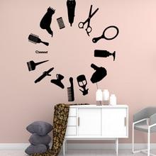 Creative hair salon Cartoon Wall Decals Mural Art Diy Poster For Kids Rooms Home Decoration Stickers Waterproof Wallpaper