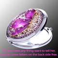 bling rhinestone Crystal butterfly angel Mini Beauty pocket mirror,stainless steel frame,makeup compact mirror,free shipping