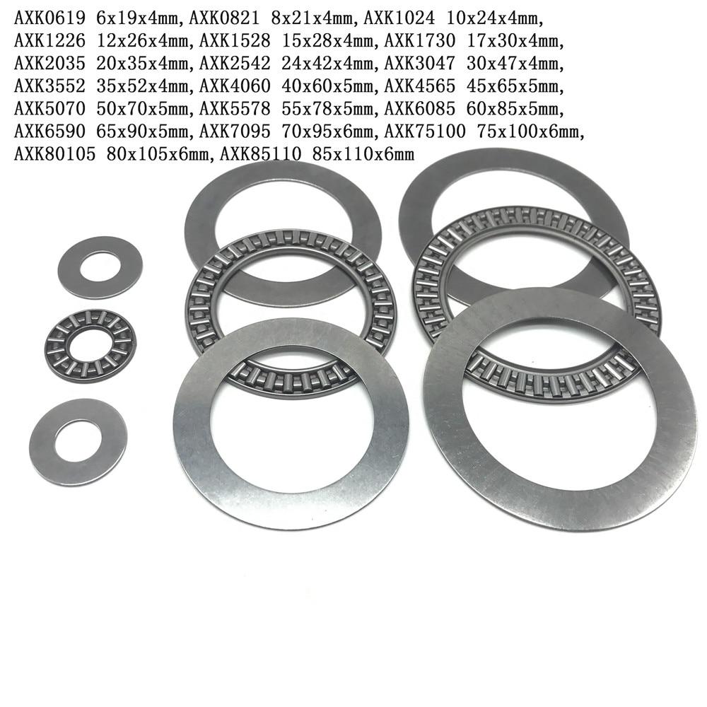 10Pcs Plane Thrust Needle Roller Bearing AXK0619 AXK0821 AXK1024 AXK1226 AXK1528 AXK1730 AXK2035 AXK2542 AXK3047 To AXK 3552+2AS