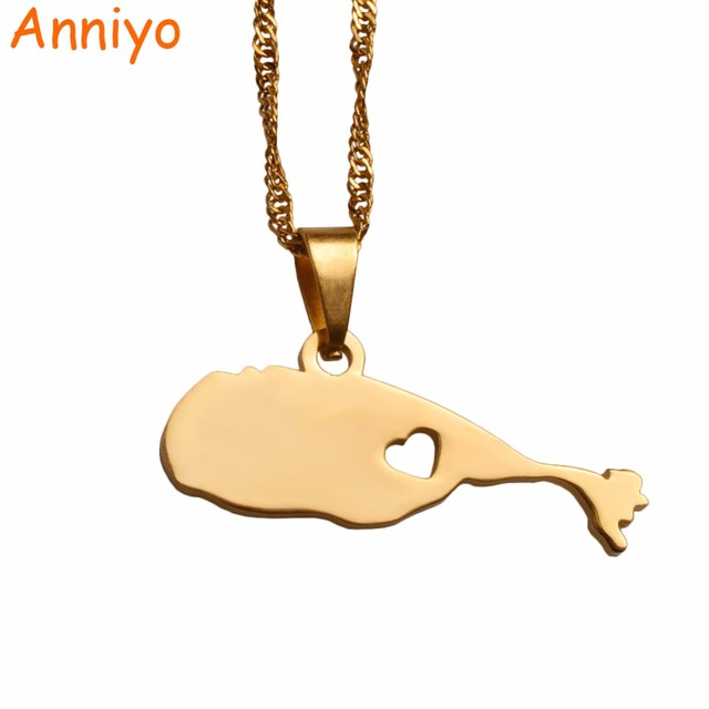 anniyo the federation of saint kitts and nevis map pendant necklaces