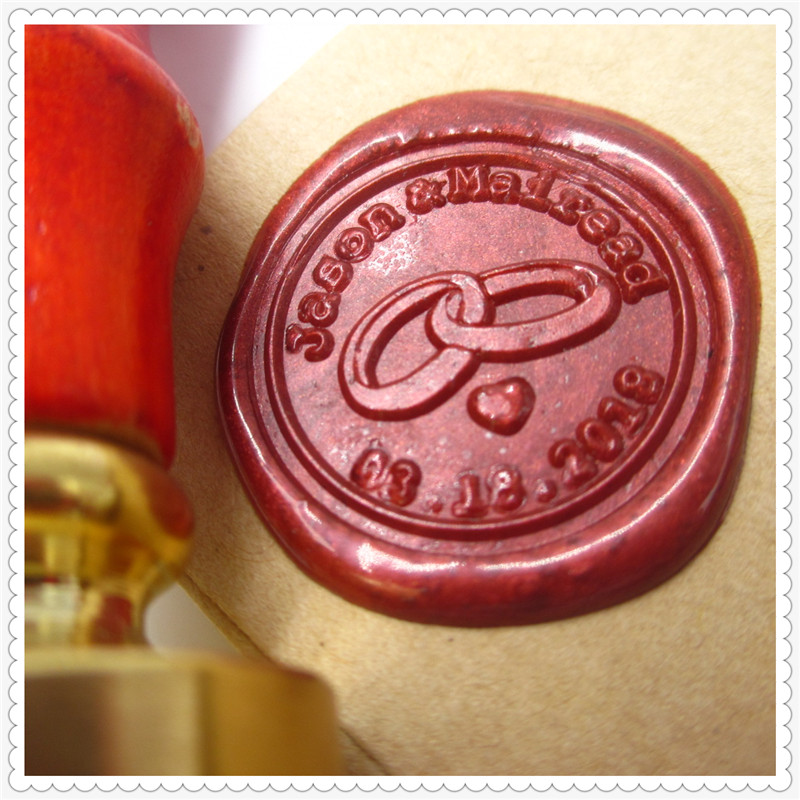 Customize Letter Initials Your own Name Box Gift set personalized/Sealing Wax /wedding Wax Seal Stamp Design Gold Plated Custom design your own initials customize logo name box set personalized letter sealing wax wedding wax seal stamp gold plated custom