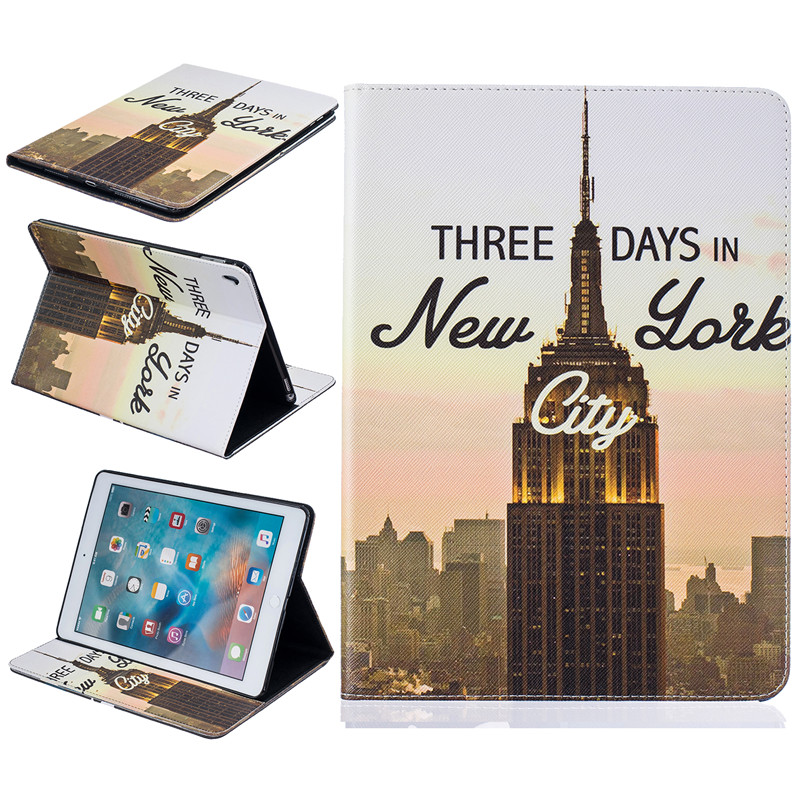 New case For apple ipad pro 9.7 Tablet Cover for ipad pro mini case painted pu Leather Silicone Protector shell CaseCard holder