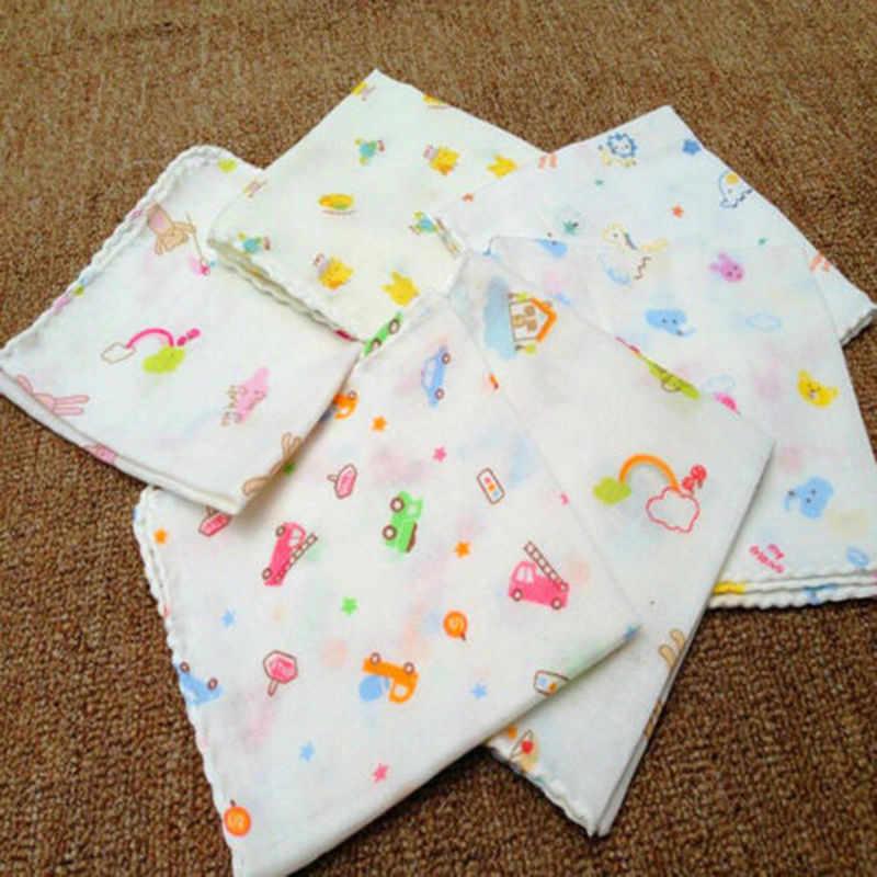 8 unids/lote toallas de baño para bebés toallas de algodón de gasa con estampado de flores toallas suaves de absorción de agua de doble capa de alta densidad para el cuidado del bebé