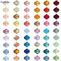 U Escolha 100 pcs 4mm Contas Bicone Áustria Cristal charme Contas de Vidro Solto Spacer Bead para DIY Fazer Jóias